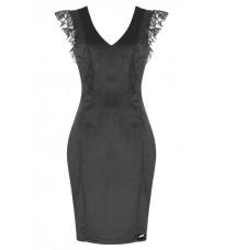Серое платье с кружевом RINASCIMENTO 77173