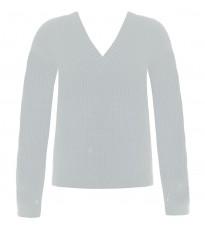 Белый свитер с V-образным вырезом RINASCIMENTO 8646