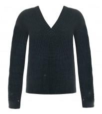 Зеленый свитер с V-образным вырезом RINASCIMENTO 8646