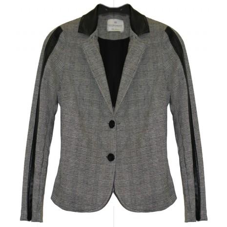Серый пиджак в клетку RINASCIMENTO 83713