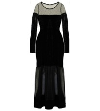 Стильное длинное черное платье RINASCIMENTO 83743