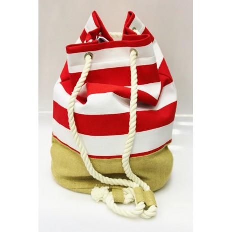 Женский рюкзак в полоску RINASCIMENTO 9553
