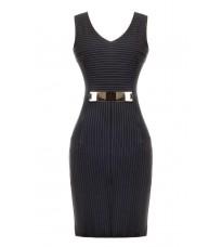 Платье-футляр с металлической деталью RINASCIMENTO 76084