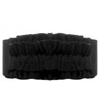 Черный замшевый пояс с оборками RINASCIMENTO 10890