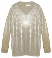 Кремовый свитер с золотистым напылением RINASCIMENTO 8663