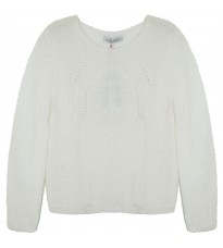 Белый свитер с узором RINASCIMENTO 8596