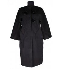 Черное пальто-кокон RINASCIMENTO 76119