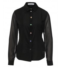 Стильная рубашка с пуговицами-камнями RINASCIMENTO 77778
