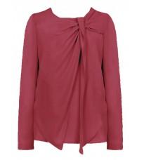 Бордовая блуза с ассиметричным декором RINASCIMENTO 77859