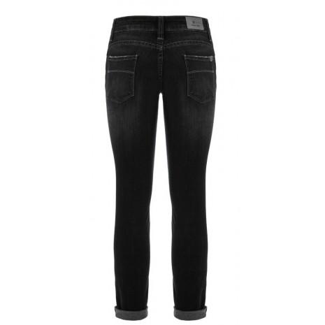 Черные джинсы с потертостями RINASCIMENTO 81594