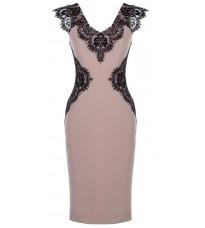 Розовое платье с кружевом RINASCIMENTO 82257