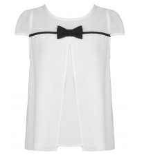 Белая блуза с бантом RINASCIMENTO 82270