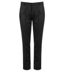 Темно-серые классические брюки в полоску RINASCIMENTO 83325