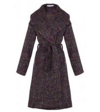 Фиолетовое пальто с поясом RINASCIMENTO 15222