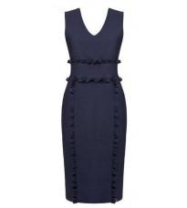 Синее платье с оборками на талии RINASCIMENTO 81975