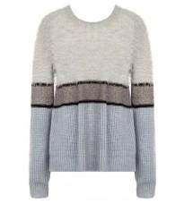 Стильный голубой свитер с полоской RINASCIMENTO 8360