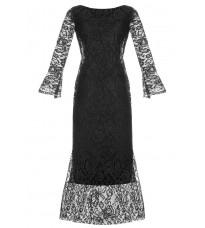 Черное платье с кружевом RINASCIMENTO 15398