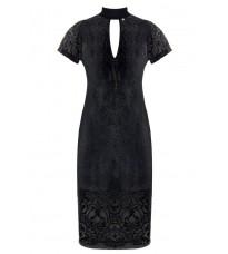 Черное платье с люрексом RINASCIMENTO 83925