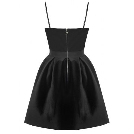 Черное платье с велюром RINASCIMENTO 84227