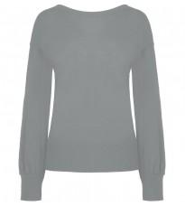Серый свитер с декором на спине RINASCIMENTO 8444