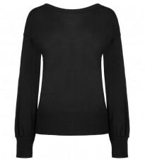 Черный свитер с декором на спине RINASCIMENTO 8444