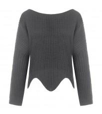 Серый стильный свитер RINASCIMENTO 8475