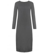 Серый прямое платье с разрезом RINASCIMENTO 8483