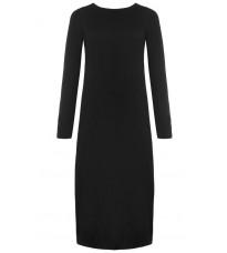Черное прямое платье с разрезом RINASCIMENTO 8483