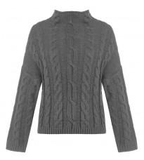 Серый свитер с узором RINASCIMENTO 8494