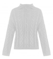 Белый свитер с узором RINASCIMENTO 8494
