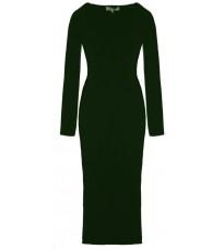 Длинное зеленое платье с принтом RINASCIMENTO 8510