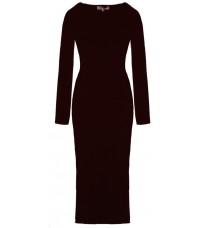 Длинное бордовое платье с принтом RINASCIMENTO 8510