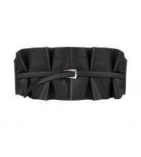Черный кожаный пояс со складами RINASCIMENTO 10673