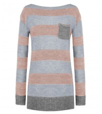 Розовый свитер в полоску RINASCIMENTO 8192