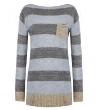 Голубой свитер в полоску RINASCIMENTO 8192