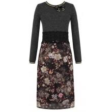 Серое платье с цветочным принтом RINASCIMENTO 83381