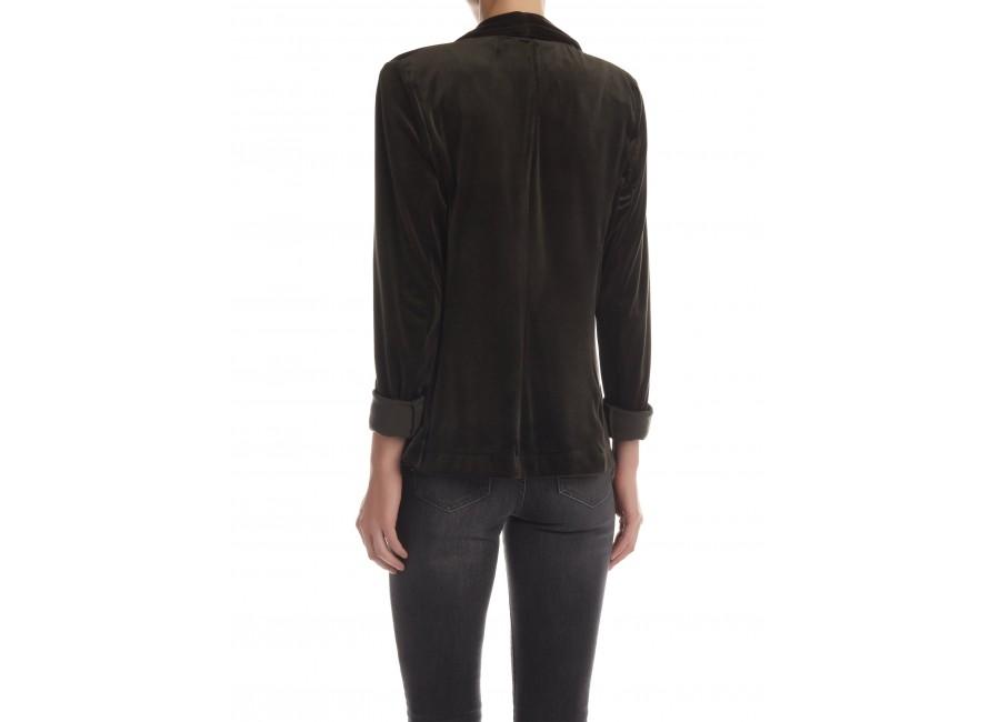 Зеленый велюровый пиджак RINASCIMENTO 81744