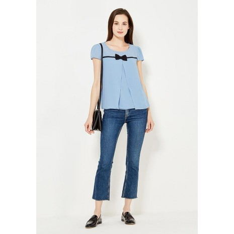 Голубая блуза с бантом RINASCIMENTO 82270