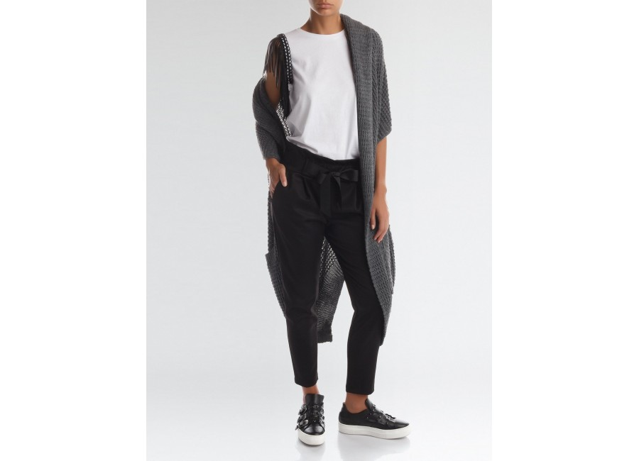Черные брюки с бантом RINASCIMENTO 82589