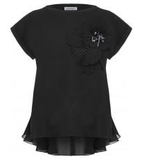 Черная толстовка с цветком RINASCIMENTO 81694