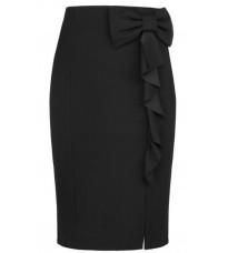 Черная классическая юбка с бантом RINASCIMENTO 82079