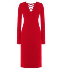 Красное платье с декором в виде шнуровки RINASCIMENTO 8209