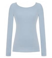 Голубой свитер с декором на спине RINASCIMENTO 8213