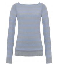 Голубой свитер в полоску RINASCIMENTO 8218