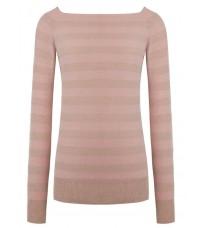 Розовый свитер в полоску RINASCIMENTO 8218