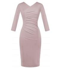 Розовое обтягивающее платье с V-образным вырезом RINASCIMENTO 82211