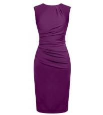 Фиолетовое платье со сборками RINASCIMENTO 82212