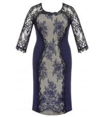 Синее платье с кружевом RINASCIMENTO 82328 (большой размер)