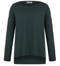 Зеленый свитер удлиненный сзади RINASCIMENTO 8327