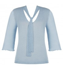 Голубой свитер с люрексом RINASCIMENTO 8141